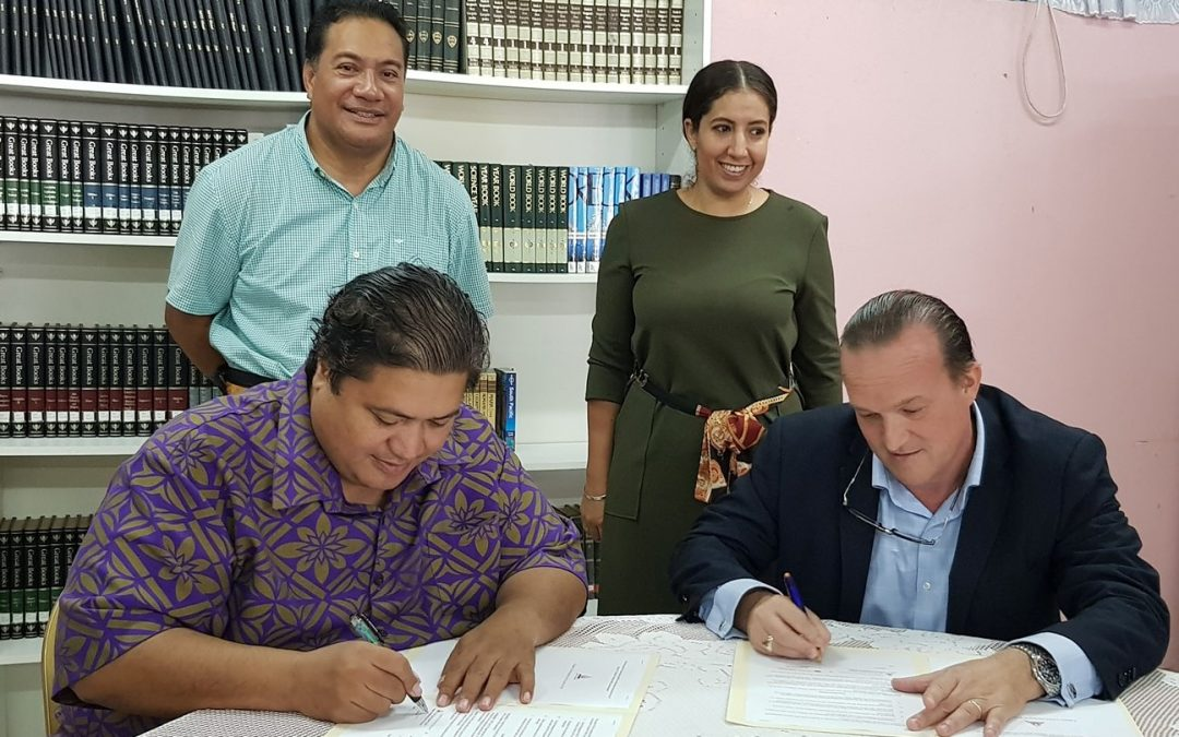 Sign of MOU of co-operation with the Christ's University in Pacific